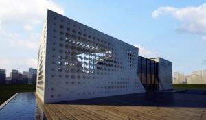 La maison solaire méditerranéenne du XXIe siècle imaginée par SLIDES, l'équipe de l'université américaine du Caire pour le Solar Decathlon 2012.