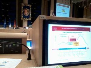 Le CEA présente ses partenariats pour l'innovation dans le bâtiment durable lors de la plénière d'ouverture du forum, le 6 février.